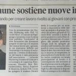 Articolo della Gazzetta di Mantova del 4 giugno 2015 dedicato alla presentazione del Premio Marketing 2016