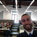 Federico con gli studenti dell'Università di Firenze