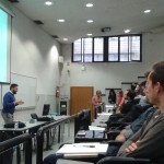 Stefano Barca durante la lezione all'Università di Verona