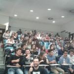 Gli studenti dell'Università di Verona presenti alla lezione