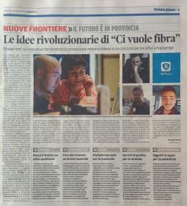 Articolo della Gazzetta di Mantova del 22 maggio dedicato al Premio Marketing 2016
