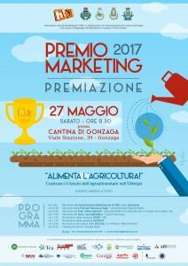 """Locandina della premiazione del Premio Marketing 2017 """"Alimenta l'Agricoltura""""!"""